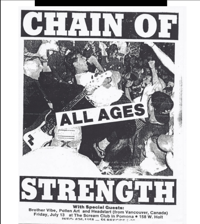 Chain Of Strength-Brother Vibe-Pollen Art-Head Start @ Pomona CA 7-13-91