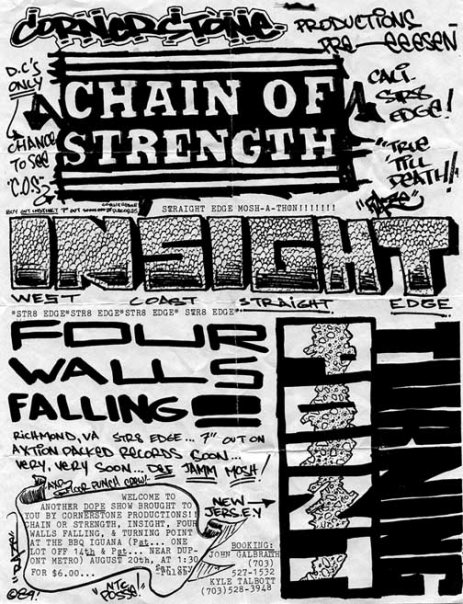 Chain Of Strength-Insight-Four Walls Falling-Turning Point @ Washington DC 8-20-89