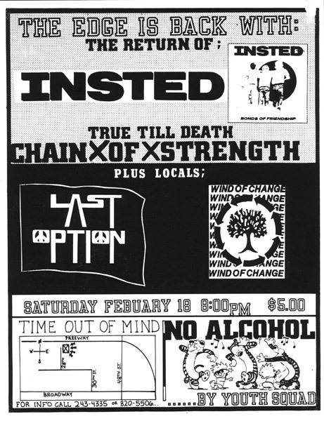 Insted-Chain Of Strength-Last Option-Wind Of Change @  Phoenix AZ 2-18-89