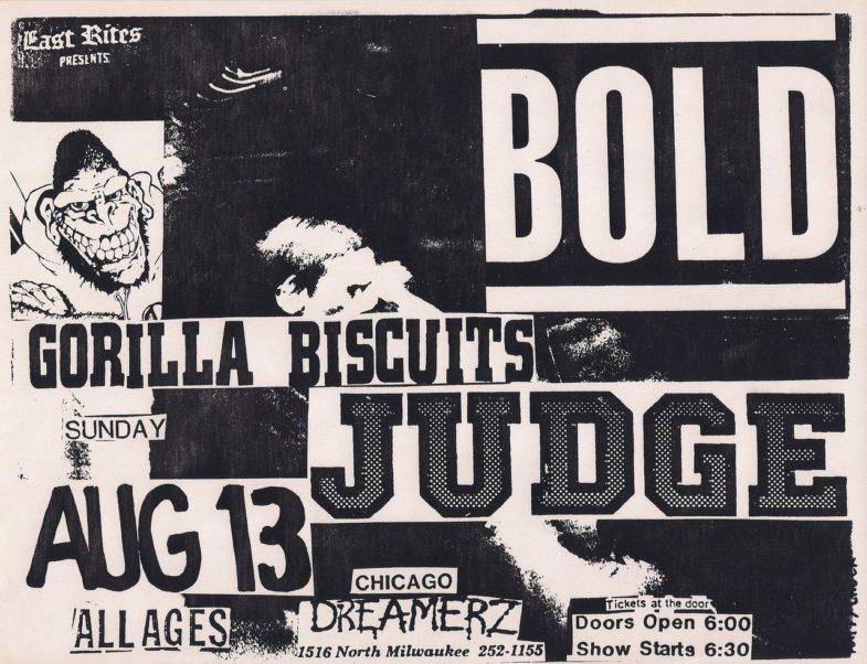 Bold-Gorilla Biscuits-Judge @ Chicago IL 8-13-89