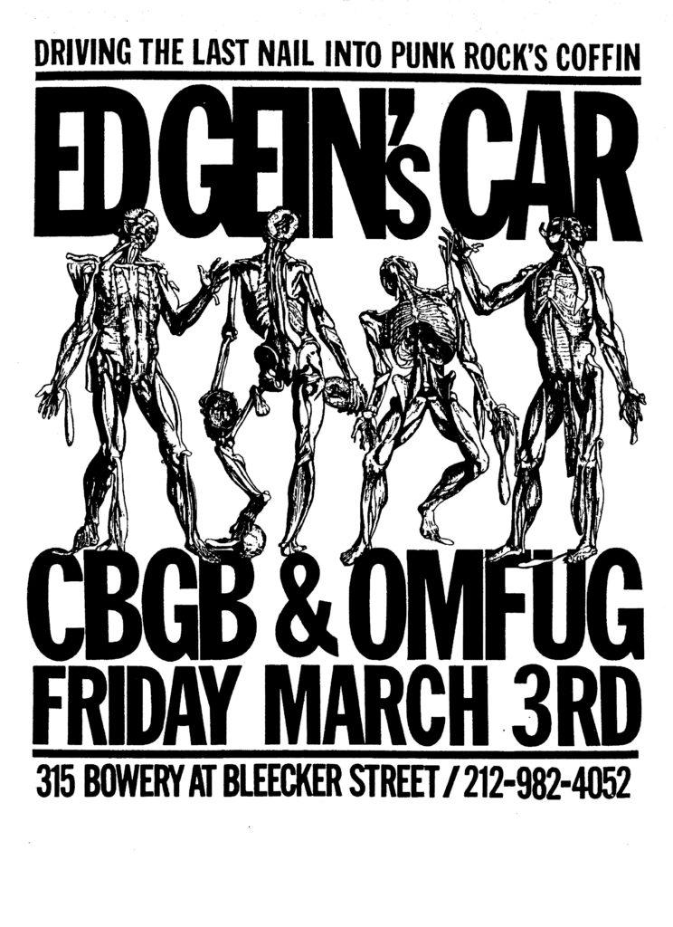 Ed Gein's Car @ New York City NY 3-3-89