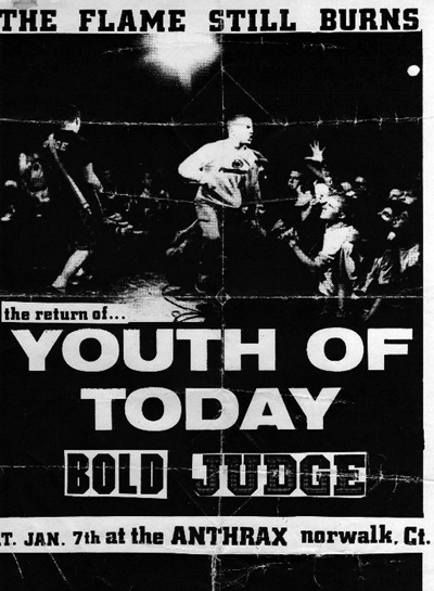Youth Of Today-Bold-Judge @ Norwalk CT 1-7-89