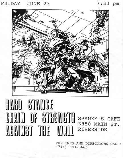Hard Stance-Chain Of Strength-Against The Wall @ Riverside CA 6-23-89