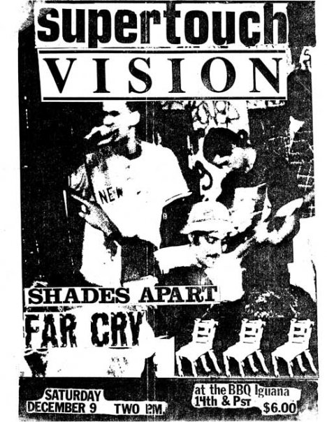 Supertouch-Vision-Shades Apart-Far Cry @ Washington DC 12-9-89