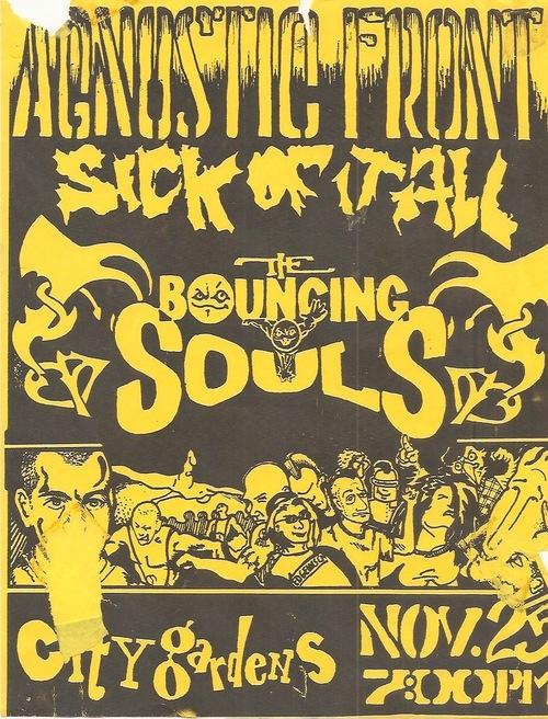Agnostic Front-Sick Of It All-Bouncing Souls @ Trenton NJ 11-25-92