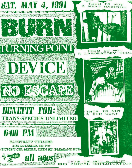 Burn-Turning Point-Device-No Escape @ Washington DC 5-4-91