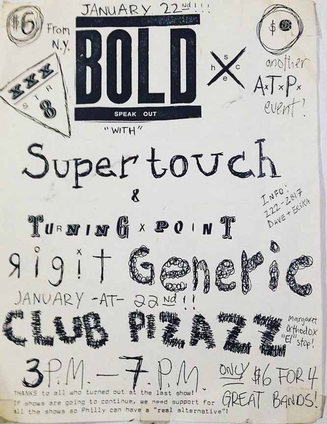 Bold-Supertouch-Turning Point @ Philadelphia PA 1-22-89