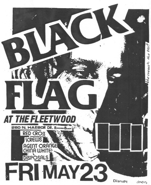 Black Flag-Redd Kross-The Screws-Agent Orange-China White-Disposals @ Redondo Beach CA 5-23-80