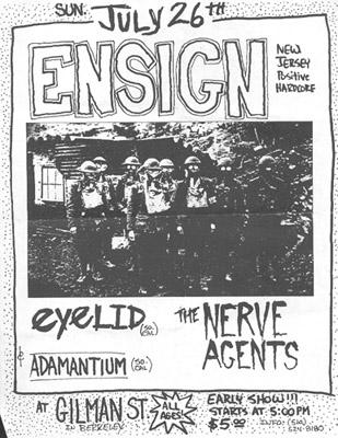 Ensign-Eyelid-Nerve Agents-Adamantium @ Berkeley CA 7-26-98