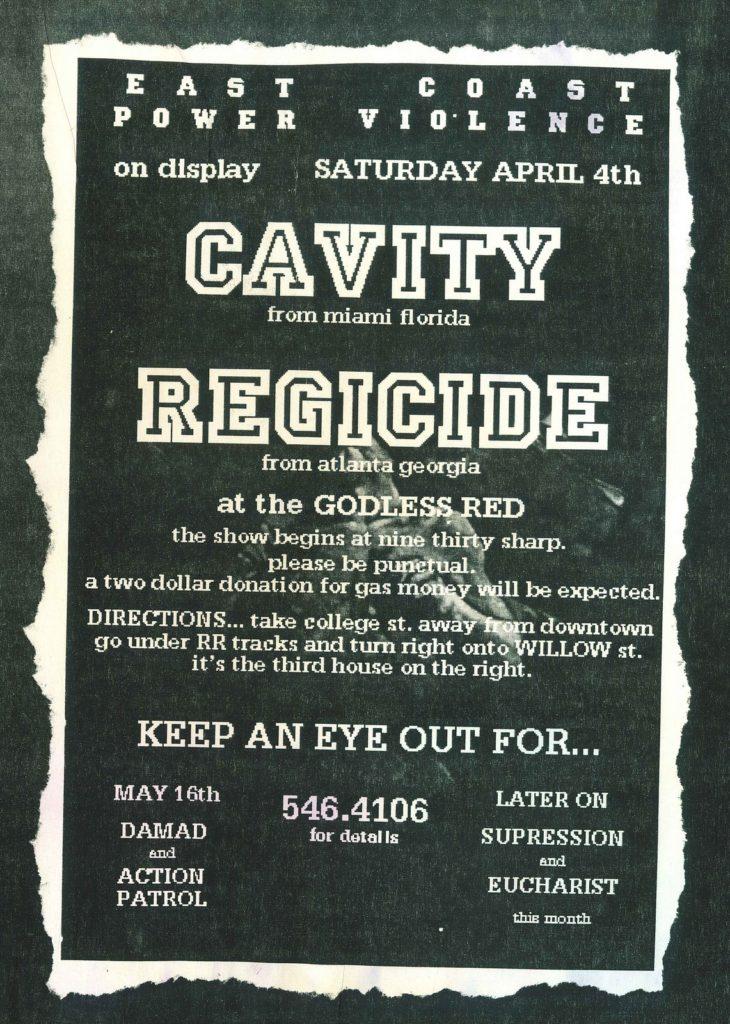 Cavity-Regicide @ Atlanta GA 4-4-96