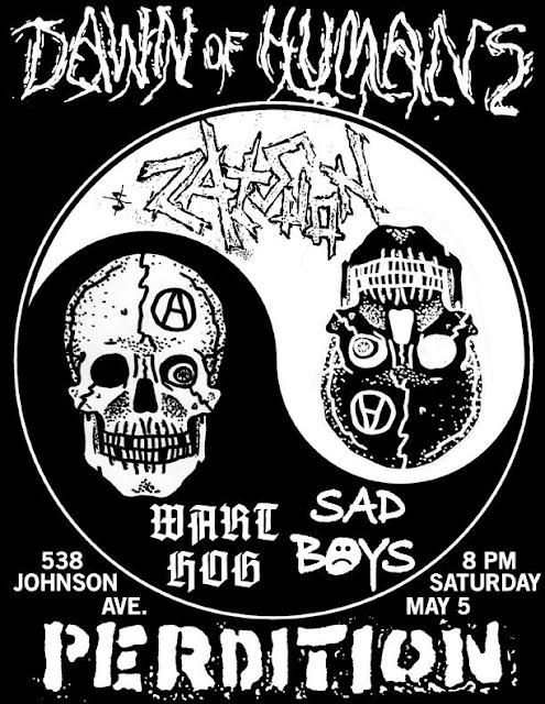 Dawn Of Humans-Wart Hog-Sad Boys-Perdition @ Brooklyn NY 5-5-12