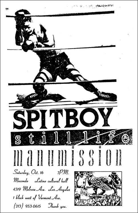 Spitboy-Still Life-Manumission @ Los Angeles CA 10-16-93