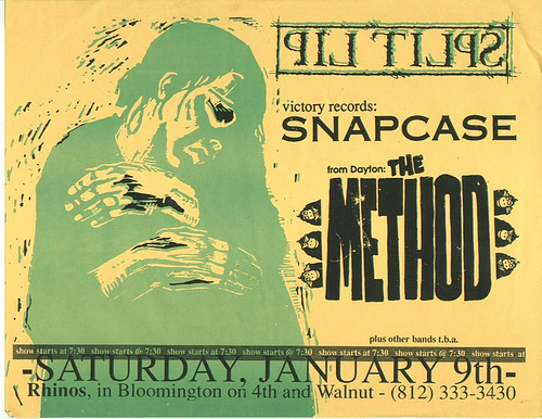Split Lip-Snapcase-The Method @ Bloomington IN 1-9-93