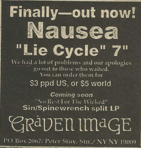Nausea-Lie Cycle