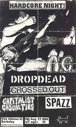 Anal Cunt-DropDead-Crossed Out-Capitalist Casualties-Spazz @ Berkeley CA 8-27-93