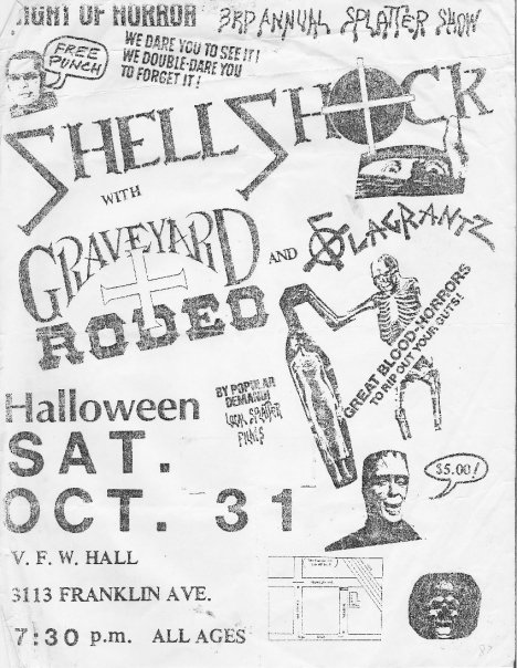Shell Shock-Graveyard Rodeo @ New Orleans LA 10-31-87