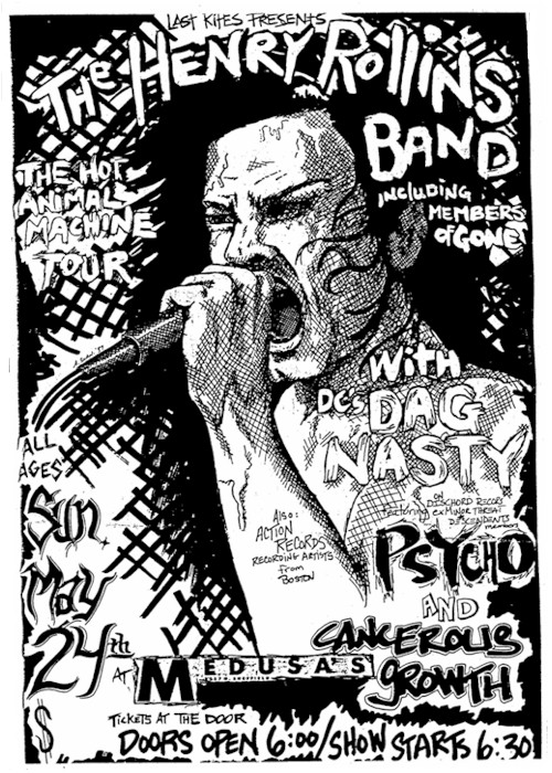 Rollins Band-Dag Nasty-Psycho-Cancerous Growth @ Chicago IL 5-24-87