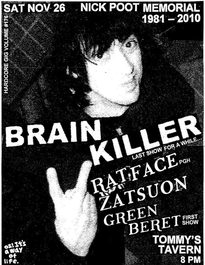 Brain Killer-Rat Face-Zatsuon-Green Beret @ Sea Bright NJ 11-26-11