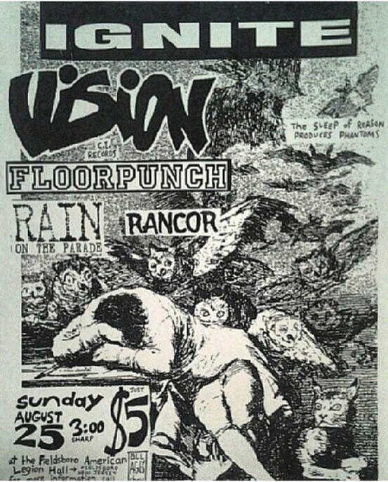 Ignite-Vision-Floorpunch-Rain On The Parade-Rancor @ Fieldsboro NJ 8-25-96