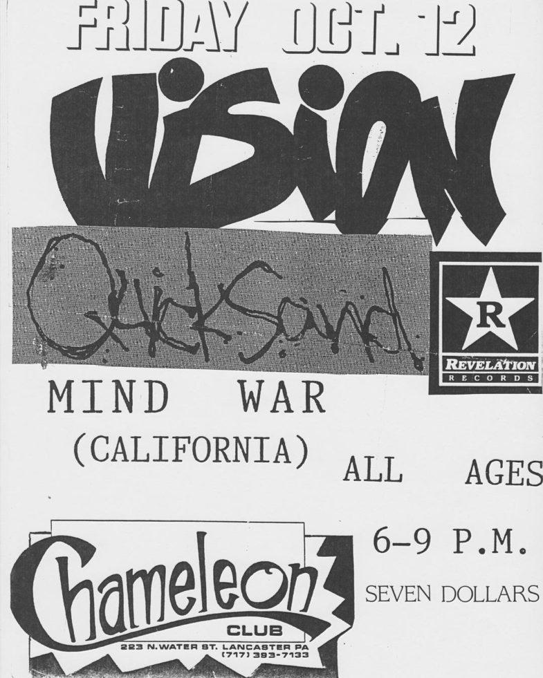 Vision-Quicksand-Mind War @ Lancaster PA 10-12-90