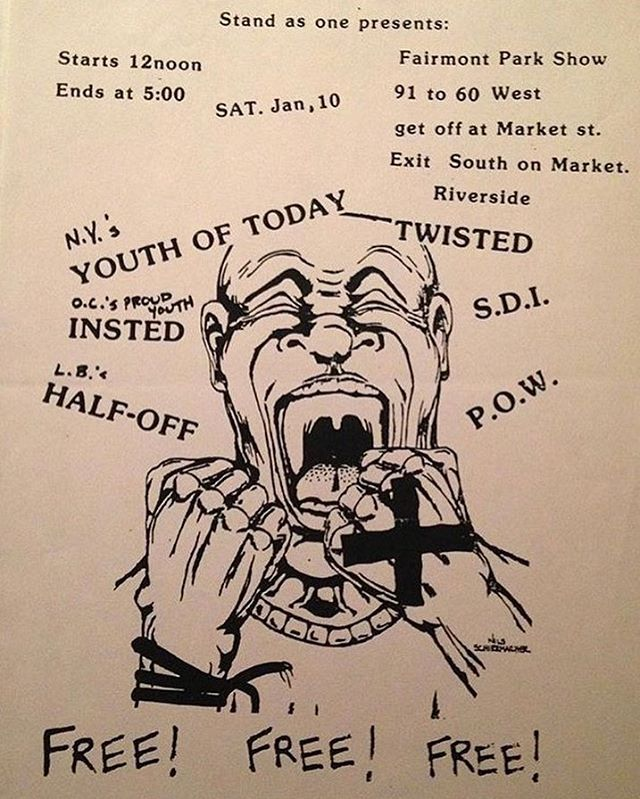 Youth Of Today-Insted-Half Off-Twisted-SDI-POW @ Riverside CA 1-10-87