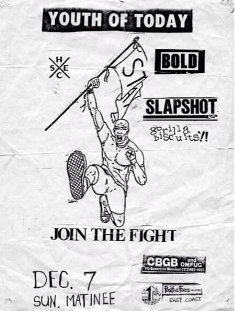 Youth Of Today-Bold-Slapshot-Gorilla Biscuits @ New York City NY 12-7-86