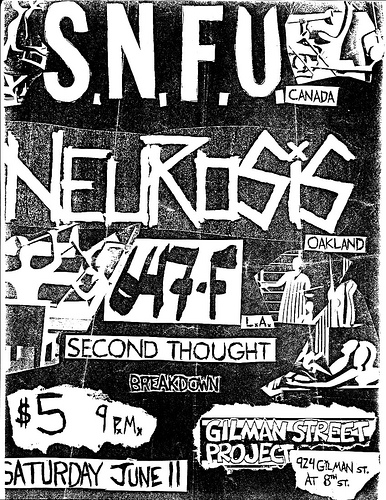 SNFU-Neurosis-Second Thought-Breakdown @ Berkeley CA 6-11-88