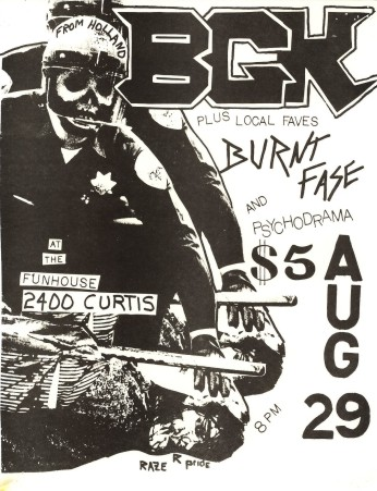 BGK-Burnt Fase-Psychodrama @ Denver CO 8-29-84