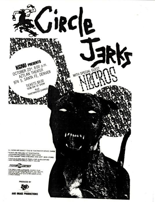 Circle Jerks-Necros @ Denver CO 10-23-UNKNOWN YEAR