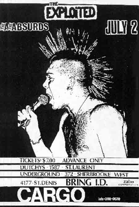 The Exploited-Absurds @ Montreal Canada 7-2-84