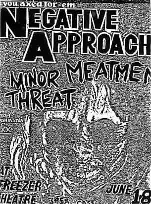 Negative Approach-Meatmen-Minor Threat @ Detroit MI 6-18-83