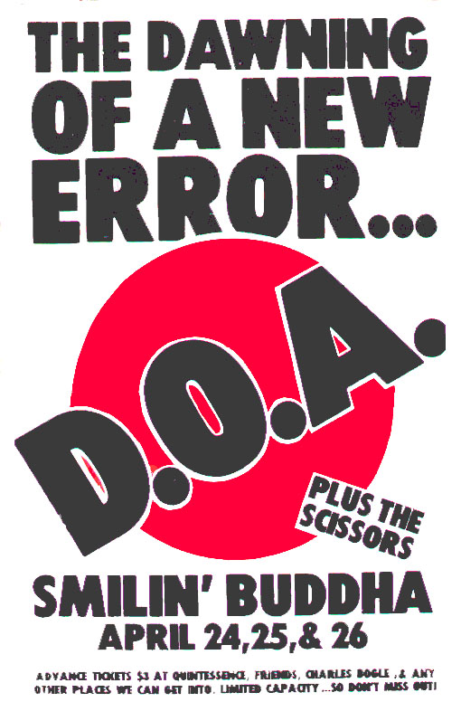 DOA-The Scissors @ St. Louis MO UNKNOWN YEAR