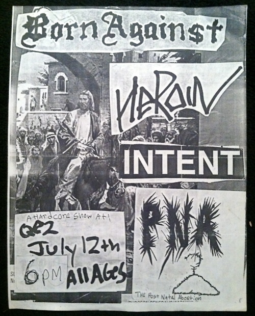Born Against-Heroin-Intent-Post Natal Abortion @ Albany NY 7-12-92
