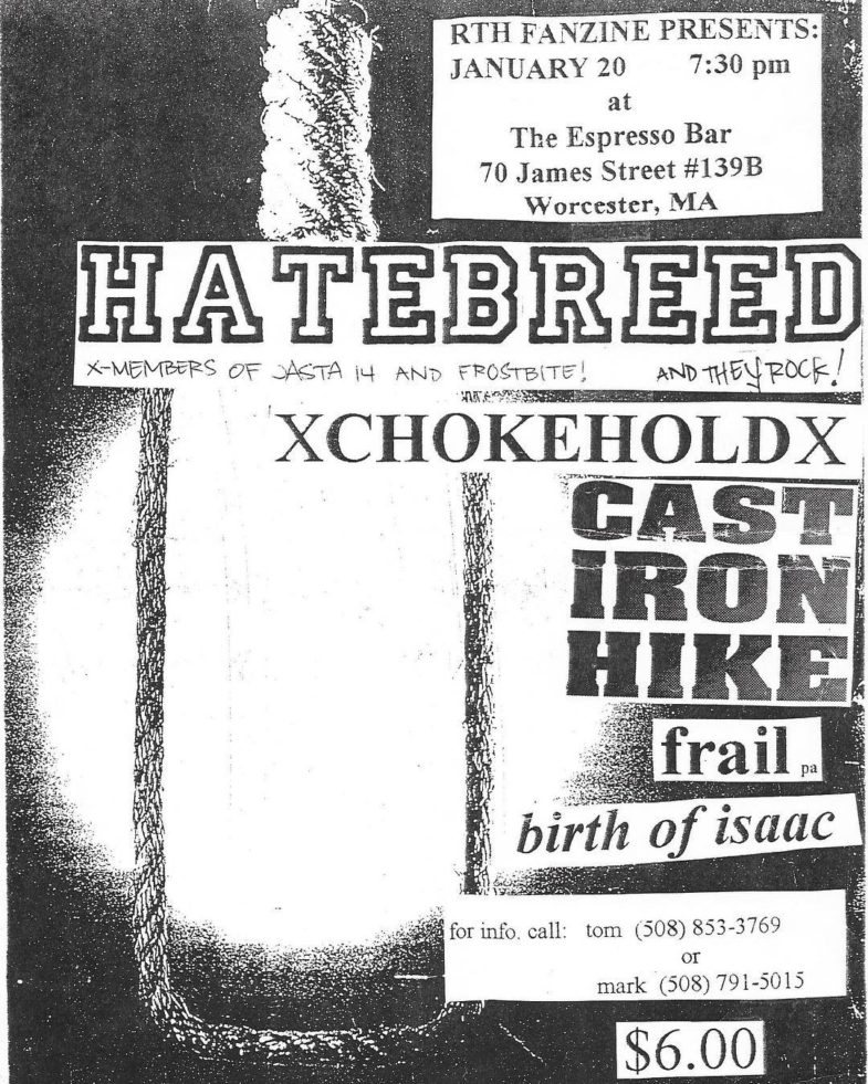 Hatebreed-Chokehold-Cast Iron Hike-Frail-Birth Of Isaac @ Worchester MA 1-20-UNKNOWN YEAR