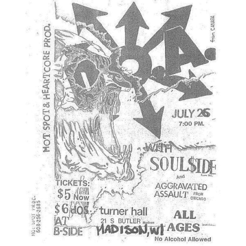 DOA-Soul Side-Aggravated Assault @ Madison WI 7-26-UNKNOWN YEAR