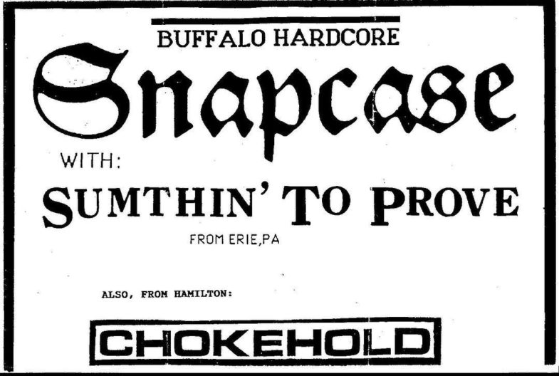 Snapcase-Sumthin' To Prove-Chokehold @ UNKNOWN LOCATION/DATE