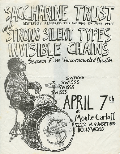 Saccharine Trust-Strong Silent Types-Invisible Chains @ Hollywood CA 4-7-UNKNOWN YEAR