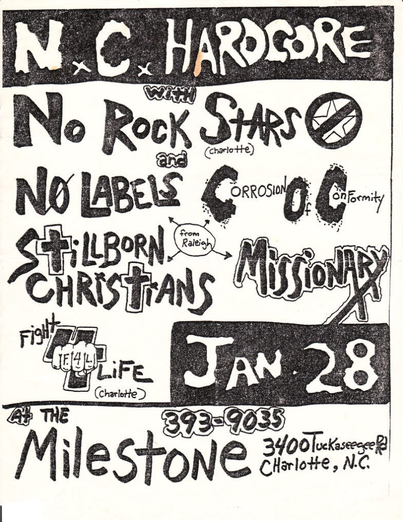 No Rock Stars-No Labels-Corrosion Of Conformity-Stillborn Christians-Missionary @ Charlotte NC 1-28-UNKNOWN YEAR