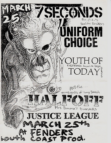 7 Seconds-Uniform Choice-Youth Of Today-Half Off-Justice League @ Long Beach CA 3-25-88