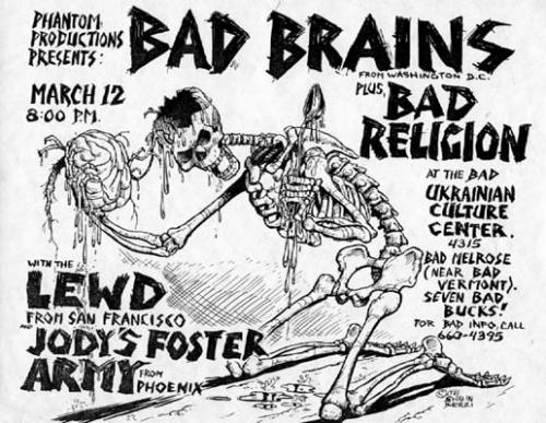 Bad Brains-Bad Religion-The Lewd-JFA @ Los Angeles CA 3-12-UNKNOWN YEAR