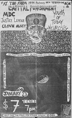 Capital Punishment-Millions Of Dead Cops-Justice League-Clown Alley-Youth Of Today-Neurosis @ San Francisco CA 1-23-UNKNOWN YEAR