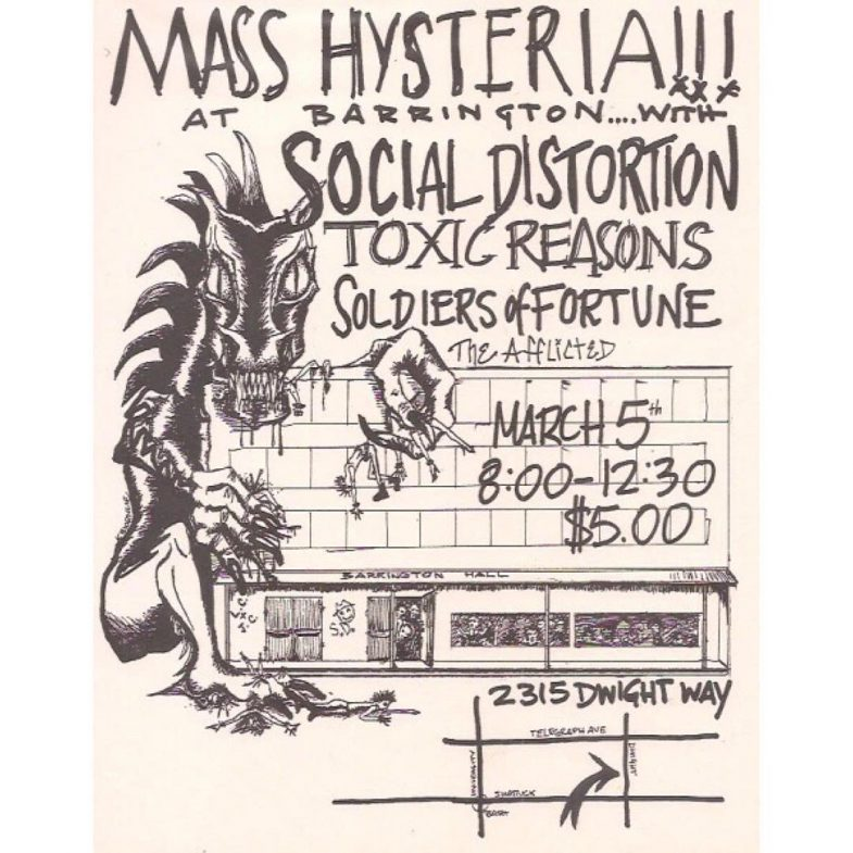 Social Distortion-Toxic Reasons-Soldiers Of Fortune-The Afflicted @ Berkeley CA 3-5-UNKNOWN YEAR