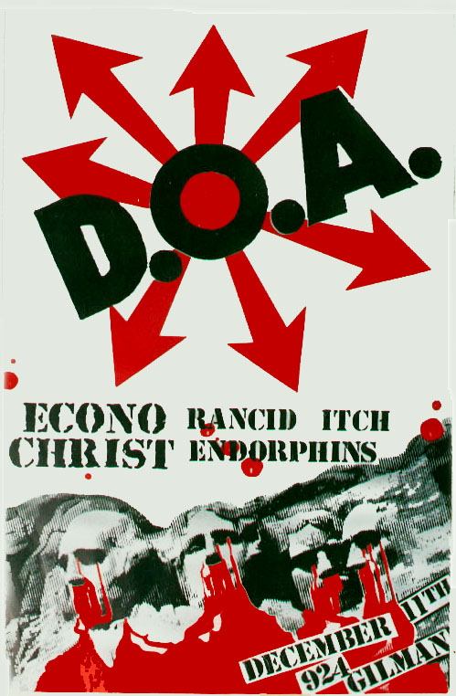 DOA-Econochrist-Rancid-Endorphins-Itch @ Berkeley CA 12-11-UNKNOWN YEAR
