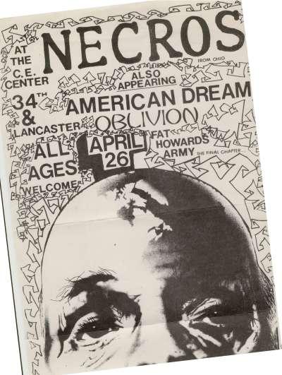 Necros-American Dream-Oblivion-Howard's Army @ Philadelphia PA 4-26-UNKNOWN YEAR