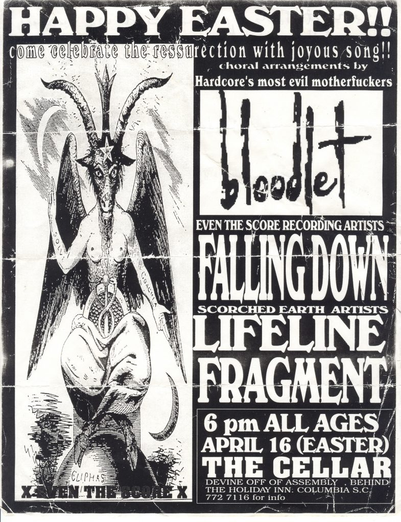 Bloodlet-Falling Down-Life Line-Fragment @ Columbia SC 4-16-UNKNOWN YEAR