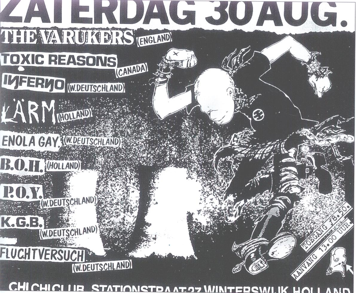 The Varkukers-Inferno-Larm-Enola Gay-KGB-Fluchtvversuch @ Winterswlik Netherlands 8-30-86