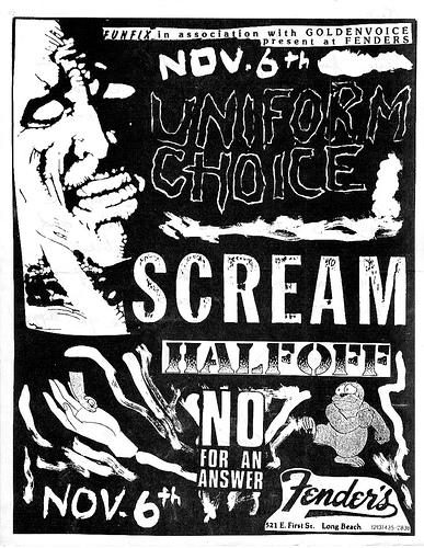 Uniform Choice-Scream-Half Off-No For An Answer @ Long Beach CA 11-6-UNKNOWN YEAR