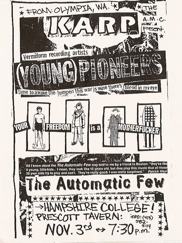 Karp-Young Pioneers-The Automatic Few @ Amherst MA 11-3-UNKNOWN YEAR