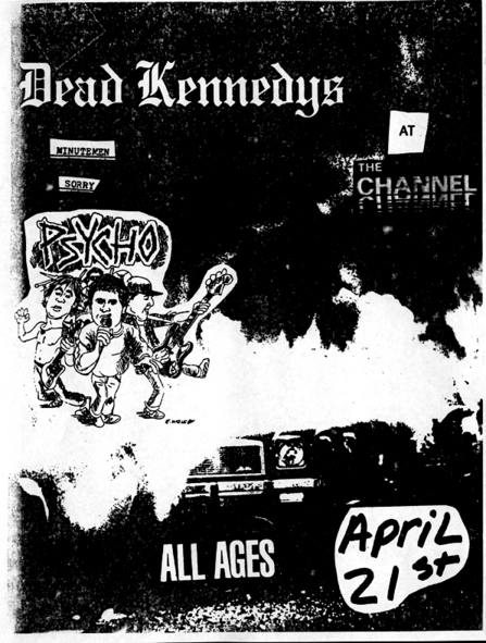 Dead Kennedys-Minutemen-Sorry-Psycho @ Boston MA 4-21-UNKNOWN YEAR