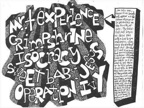 Mr. T Experience-Crimpshrine-Isocracy-Sweet Baby Jesus-Operation Ivy @ Berkeley CA 7-4-87